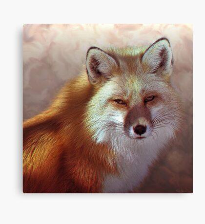 Fox Portrait Painting Max size 14x14 Canvas Print