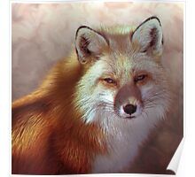 Fox Portrait Painting Max size 14x14 Poster