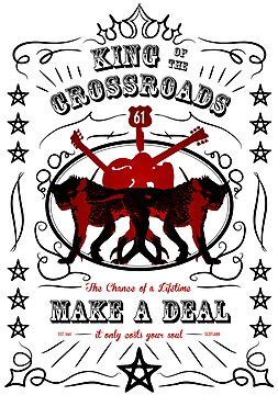 Supernatural - King of the Crossroads - Make a Deal (black/red, bright) by glassCurtain