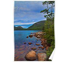 USA. Maine. Acadia National Park. Jordan pond. Poster