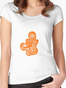 Lady bug - Orange Women's Fitted Scoop T-Shirt