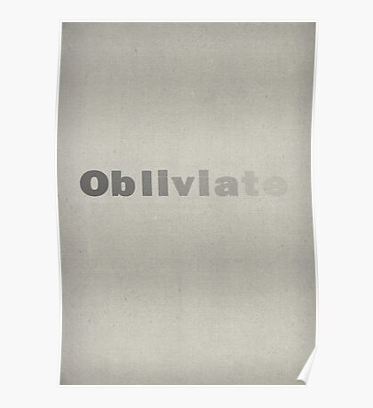 obliviate Poster