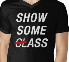 SHOW SOME CLASS ASS BLACK TYPOGRAPHY SHIRT Mens V-Neck T-Shirt