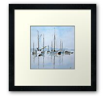 Early Morning Newhaven, (after Roland Hilder)  by John Rees Framed Print