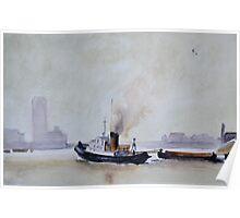 Thames Tug, (after Trevor Chamberlain)   by John Rees Poster