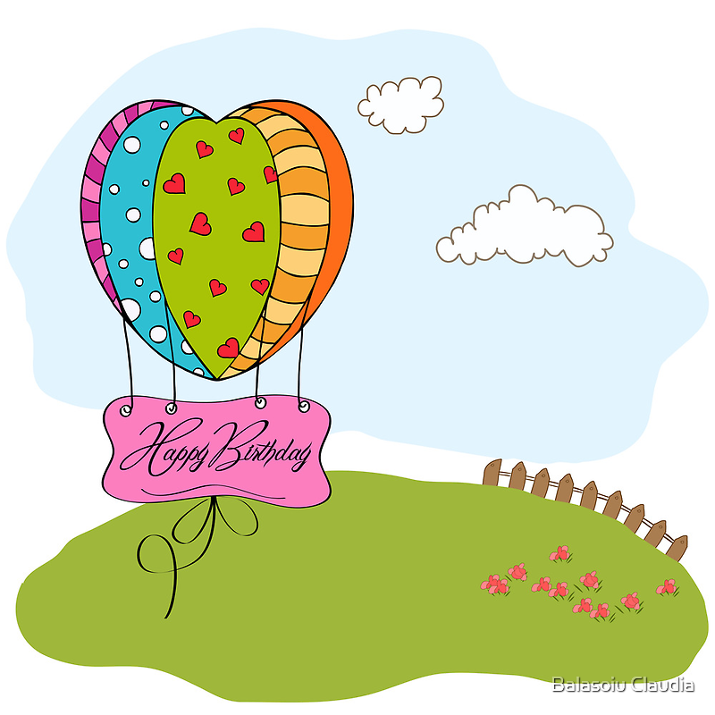 happy birthday card with balloons by Balasoiu Claudia