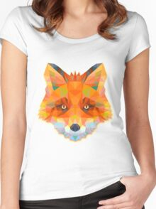 Fox Animals Gift Women's Fitted Scoop T-Shirt