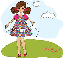 cute little girl wishing you happy birthday by Balasoiu Claudia