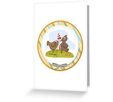 love birds, romantic illustration in vector format Greeting Card