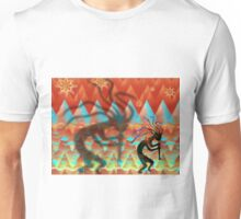 Kokopelli Flute Player Plays Day and Night Unisex T-Shirt