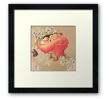 Orange Sun in June Framed Print