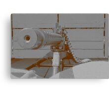 down the barrel of a gun Canvas Print