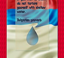 Bulgarian proverb wisdom quote poster by Lucyblue54