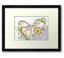 Captured in the heart coloured Framed Print