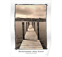 Derwentwater Jetty Scene Sepia Poster
