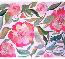 PEONY PAINTING by Gea Austen