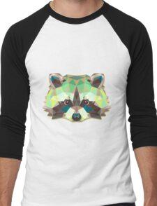 Raccoon Animals Gift Men's Baseball ¾ T-Shirt