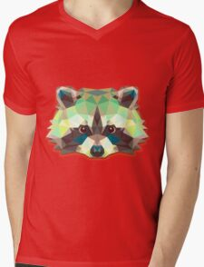Raccoon Animals Gift Mens V-Neck T-Shirt