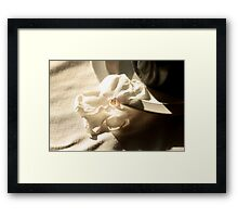 Textures and light Framed Print