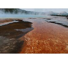 Runoff from the Grand Prismatic Spring ~ Yellowstone National Park Photographic Print