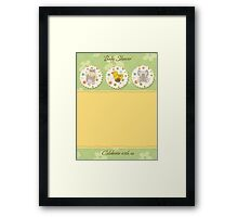 cute baby shower card Framed Print