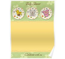 cute baby shower card Poster