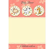 cute baby shower card Photographic Print