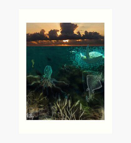 Under the sea... Art Print