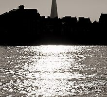 The Shard from Canary Wharf by Jasna