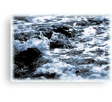 The Song of Rocks and the Sea Canvas Print