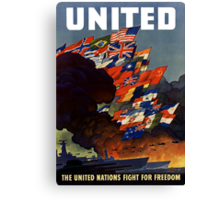 The United Nations Fight For Freedom Canvas Print