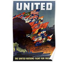 The United Nations Fight For Freedom Poster