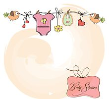 baby girl shower card by Balasoiu Claudia