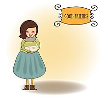 good friends greeting card Photographic Print