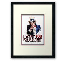 "Uncle Sam ""I Want You""  Framed Print"