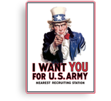 "Uncle Sam ""I Want You""  Canvas Print"