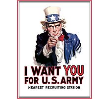 """Uncle Sam """"I Want You""""  Photographic Print"""