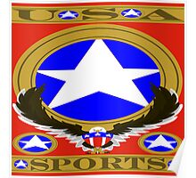 USA Sports Red template Poster