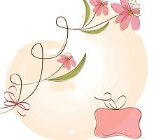 romantic flowers background by Balasoiu Claudia