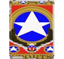 USA Sports Red template iPad Case/Skin