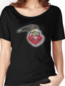 caws i love you black Women's Relaxed Fit T-Shirt