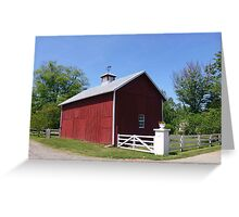 Barn Building in Middleburg, VA Greeting Card