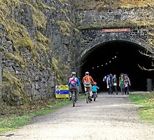 Cressbrook Tunnel on the Monsal Trail by Rod Johnson