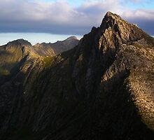 Sunset on Cir Mhor, Arran.  by Neil MacNeill