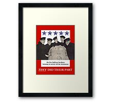 The Sullivan Brothers They Did Their Part Framed Print