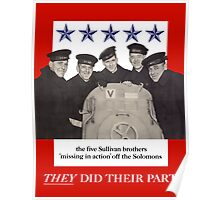 The Sullivan Brothers They Did Their Part Poster