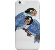 masked blue lovebird iPhone Case/Skin