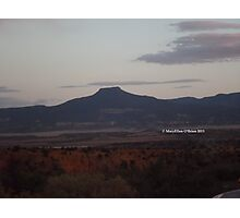 Darkening Light at Pedernal, Northern New Mexico Photographic Print