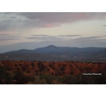 Sundown at Ghost Ranch Photographic Print