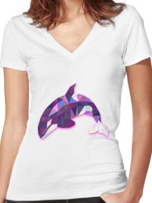 Orca Animals Gift Women's Fitted V-Neck T-Shirt